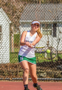German exchange student Pia Geissler won her matches 6-2 and 6-0 on Thursday.  Adrian Flatgard frequentflyerphotographer @gmail.com