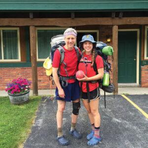 Sandy and Erica Taft on a break in Erica's hike.                                                       Courtesy