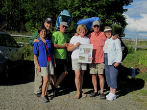 Sandie and Mark Revett, formerly of Stow; Ron and Annette Szpila, formerly of Stow;  and Ron and Nancy Plumhoff, of Red Acre Rd. , stayed at the Inn at Sunset Hill in Sugar Hill, NH and did some kayaking on the Pemigewasset River.