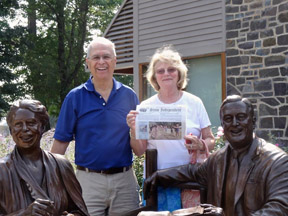 A photo taken by Venita Fuller of Driftwood,TX (Pop. 234 not counting the animals) shows  Bob & Dee  Glorioso on their visit to the Franklin D. Roosevelt Presidential Library & Museum at Hyde Park, NY.