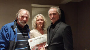 """CONTEST WINNER!  Tenney Spinneit (center) of Stow was the winner of The Stow and Bolton Independent """"Free Passes to meet blues artist James Montgomery"""" contest. She and her guest, Jon Marcus (left), were also invited to stay for the James Montgomery Band show at The International Golf and Resort Club inBolton on New Year's Eve. Tenney said after the show, """"We had an amazing time - will never forget it!! James and his entire group could not have been nicer and more gracious!"""" Congratulations to Tenney and thank you to James Montgomery and company for providing the passes for the contest."""