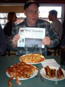 Every month the COA has a diner trip - This is the breakfast Eddie Warren ordered at a recent COA trip to a diner in Oxford.