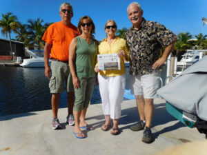 Former Stow Fire Chief Mike McLaughlin, his wife Cindy, Bev Harmon and Rick Connelly recently enjoyed a trip to Key West and Key Largo.