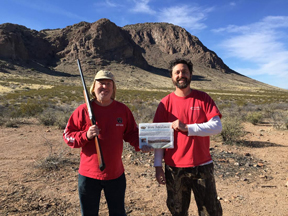 Robert Bell (left) and brother Greg Bell recently went quail hunting in the Peloncillo Mountains near the southeast corner Arizona.  in fact, it was 68* there while the big blizzard was hitting the northeast!