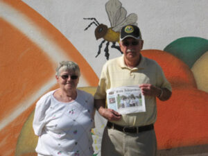 Bill Byron and Dot Spaulding on vacation in November, 2015 at Nokomis orchards, Nokomis, Florida. This was another leg of a long road trip.