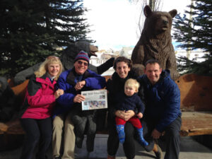 """Edmund and Corinne Green met up with daughter Vanessa Sinders, Chip and Will (15 months old) for some skiing and babysitting in Jackson Hole, Wyoming. The scenery was glorious, weather was perfect and the mountain """"steeps"""" lived up to their reputation!"""