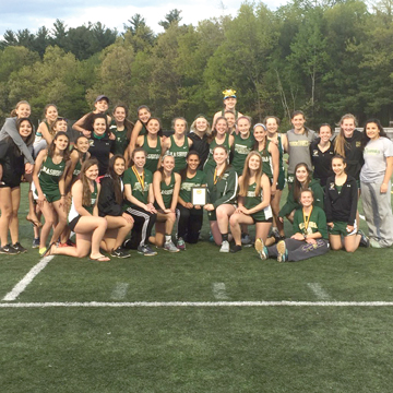 The Nashoba Girls Track team won the Mid-Wach B League Championship on May 18 in Bolton.                                                                    Courtesy Tania Rich