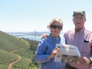 After a trip to Hawaii with their family, Nancy and Ron Plumhoff stopped for a couple of days in San Francisco and took a tour that included Golden Gate Bridge.