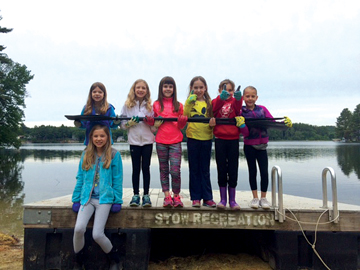 Troop 66156, a Stow second grade Girl Scout troop, participated in the Pine Bluffs Beach Clean-Up on June 11, 2016.  The girls worked very hard raking the beach and collecting litter.  They also donated two oars to Pine Bluffs which they purchased with their cookie selling profits.  They hope fellow beach goers enjoy using them while kayaking!