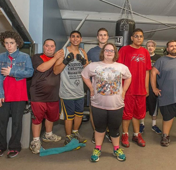Aylward (back row, center) with members of a Unified HP class.                                                 Courtesy