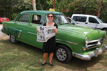 Jen Adams in Cuba this April.  She took a group of 20 people there, including 15 of her high school students.