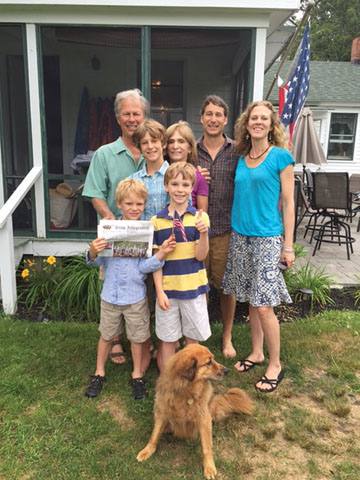 The Smiths of Stow enjoying a family reunion on Long Island's Peconic Bay.