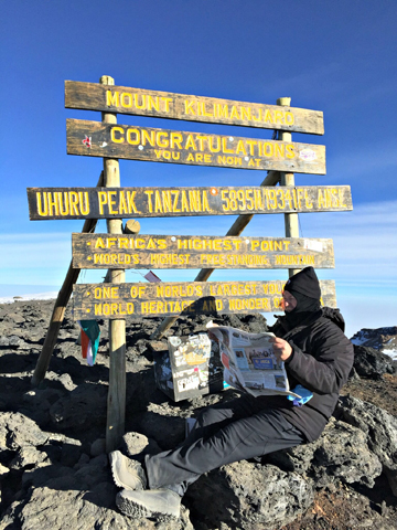 Stow resident Robert Bell climbed to the top of Mount Kilimanjaro in July. More on the story below.                    Courtesy