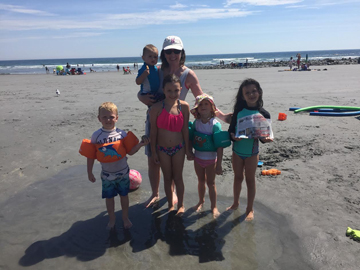 The Stow Independent recently went to beautiful York Beach in Maine with Mary Ketola and 5 of her grandchildren and other family members. Grandchildren with her in this photo are: Kelly, Ashley, James and Shawn O'Brien, and Olive Ketola.