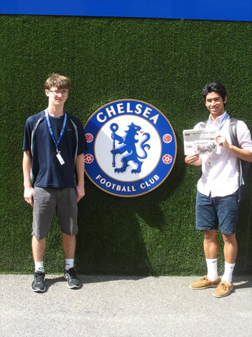 The Stow Independent went to London with Matthew and Evan Medcraft to visit Stamford Bridge, the home stadium of the Chelsea Football Club ( go Blues !).  The trip also included a visit to Ajax Stadium in Amsterdam (not as nice as Stamford bridge) and  a Castles of the Rhine River cruise from Basel, Switzerland to Amsterdam.