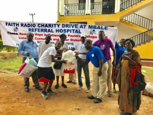 Faith Radio Uganda Charity Drive for Mbale Regional Hospital - faithradiouganda.org