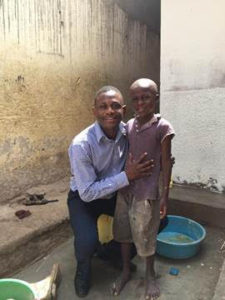 Daniel Okabe at Impact Ministries orphanage
