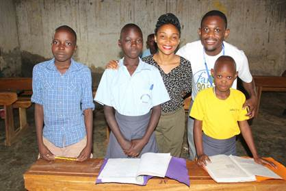 Faith Radio Planning and Development Officer and wife Sharon at Impact Ministries Orphanage