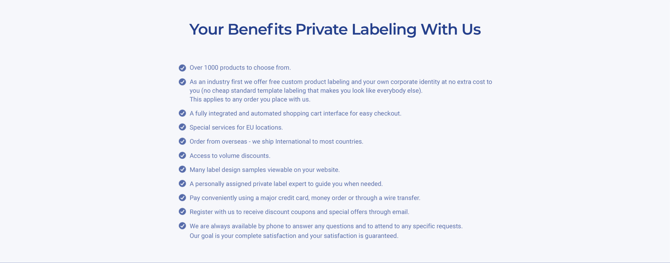 Private Label benefits with Health Genesis