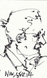 Nasser drawing, May 18, 2014
