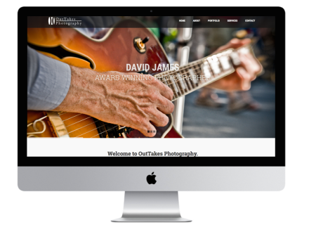 OutTakes Photography Website - Windrose Web Design