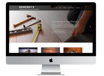 Windrose Web Design - Dempsey's Hardwood