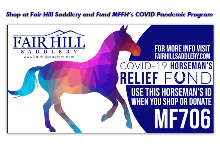 Shop at Fair Hill Saddlery & help fund MFFH's COVID Pandemic Program