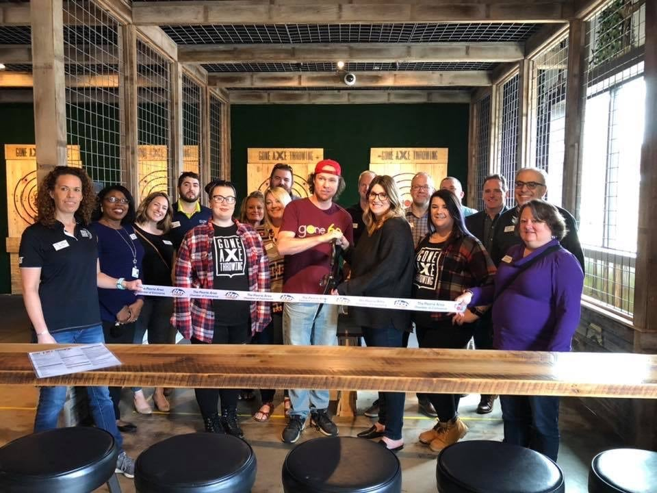 about gone axe throwing small business local