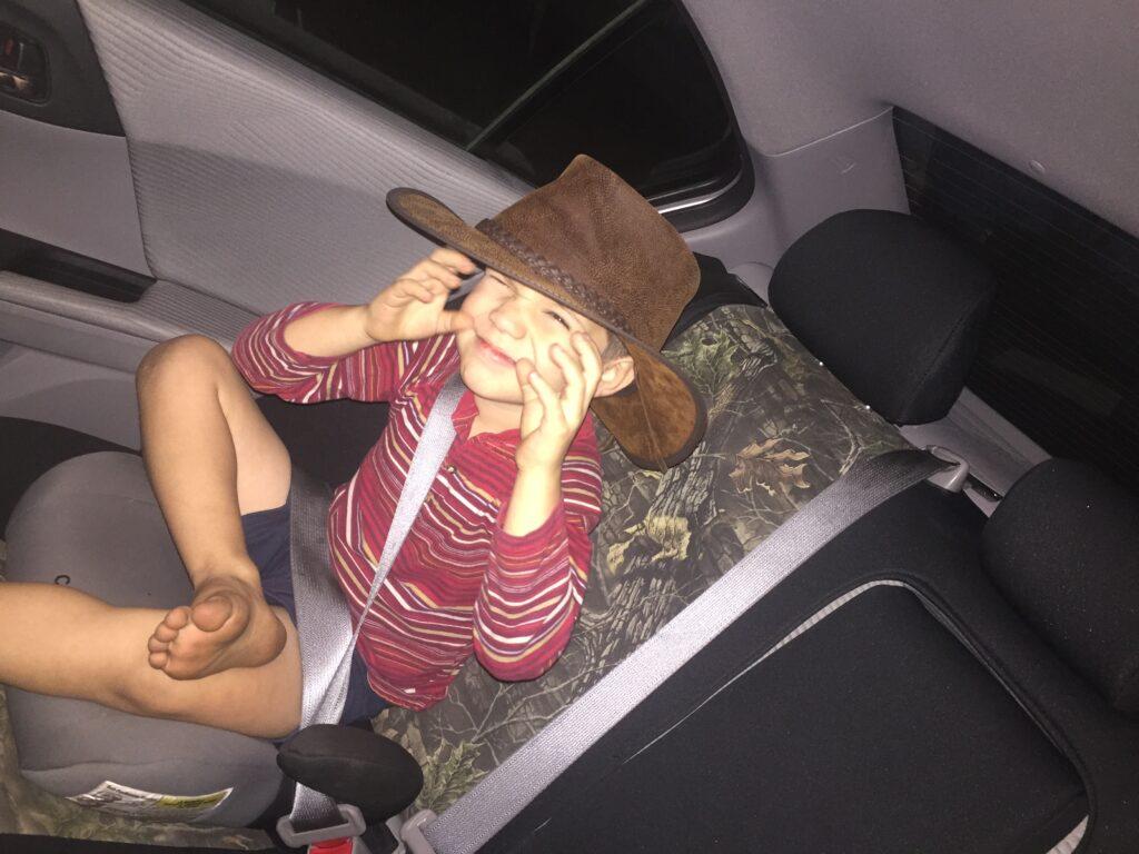 Zeke loves my hat