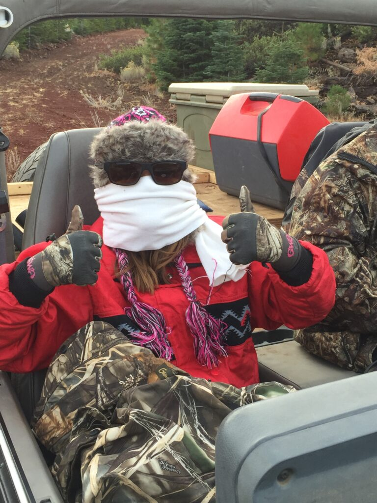 Shay was cold hunting muleys