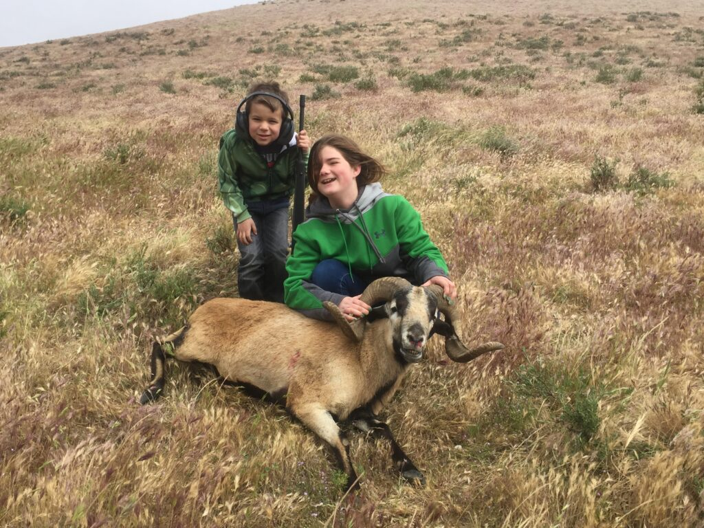 Shay and Zeke on a ram hunt