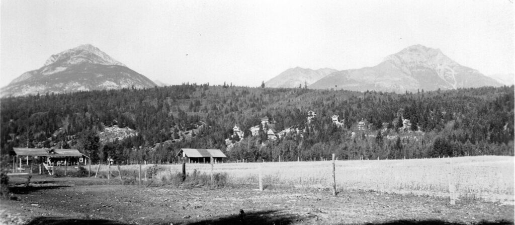 An old image of hills and mountains