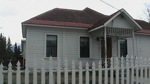 A front view of a house