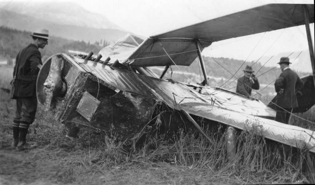 A broken airplane