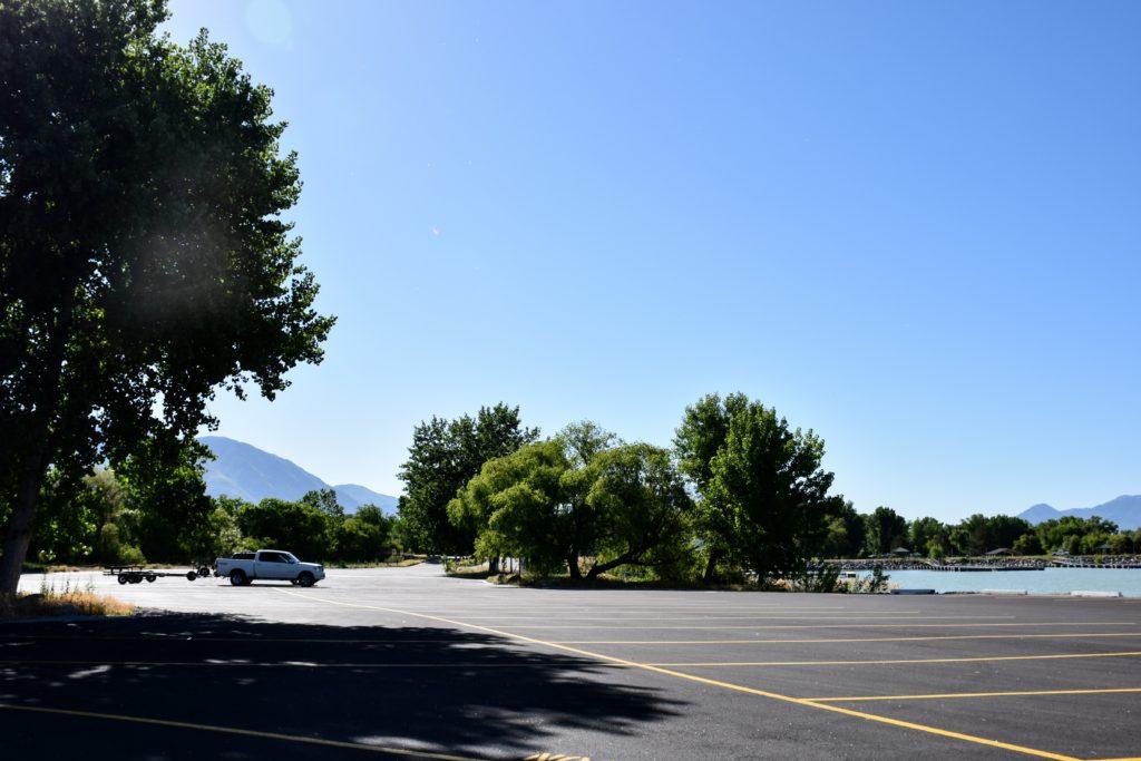 utah lake parking lot