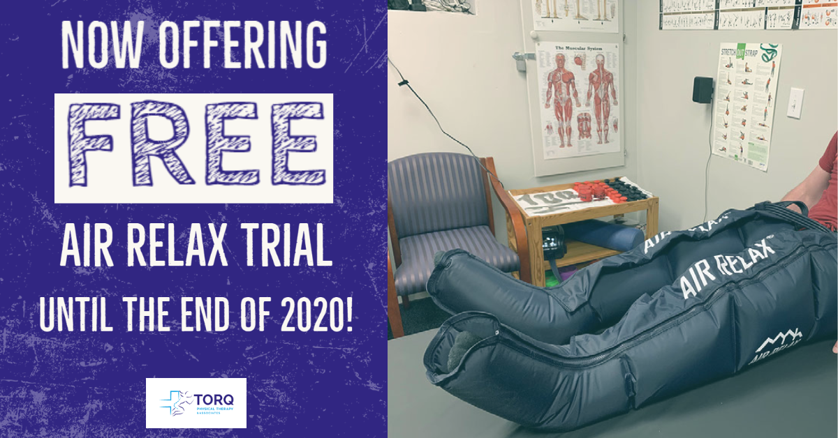 recovery air relax compression therapy free trial stretching
