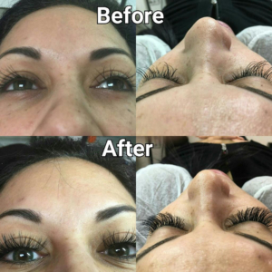 eyelash extensions before and after in tampa