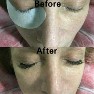 before and after eyelash extensions-tampa