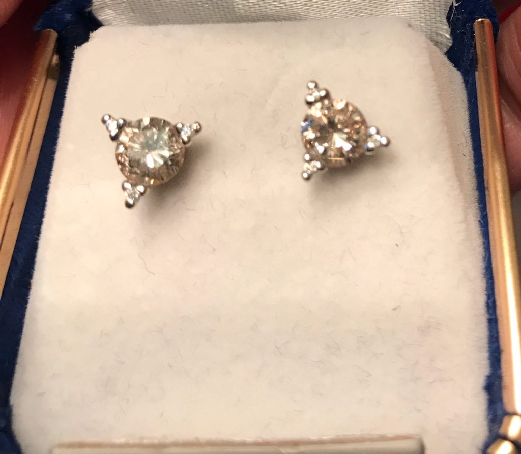 diamond earrings sold
