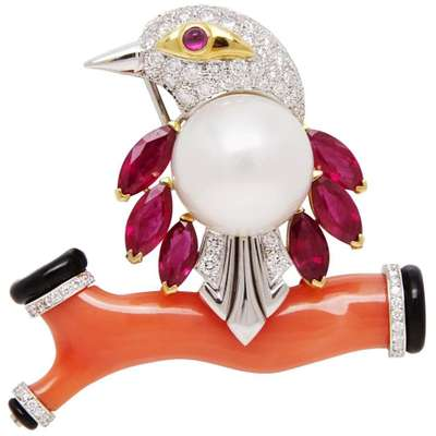 Brooches and estate jewelry