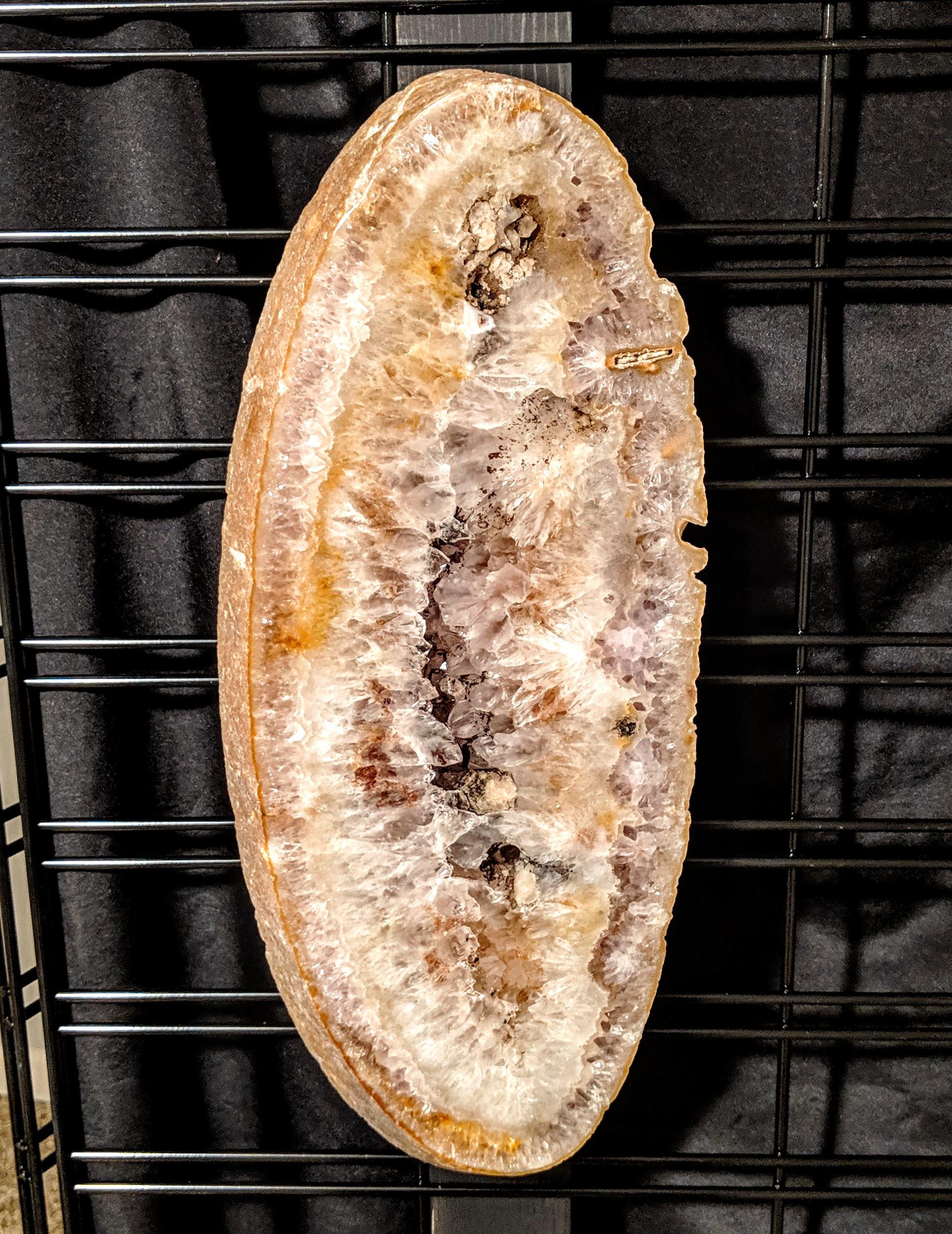 Brazilian Agate slab Golden oval