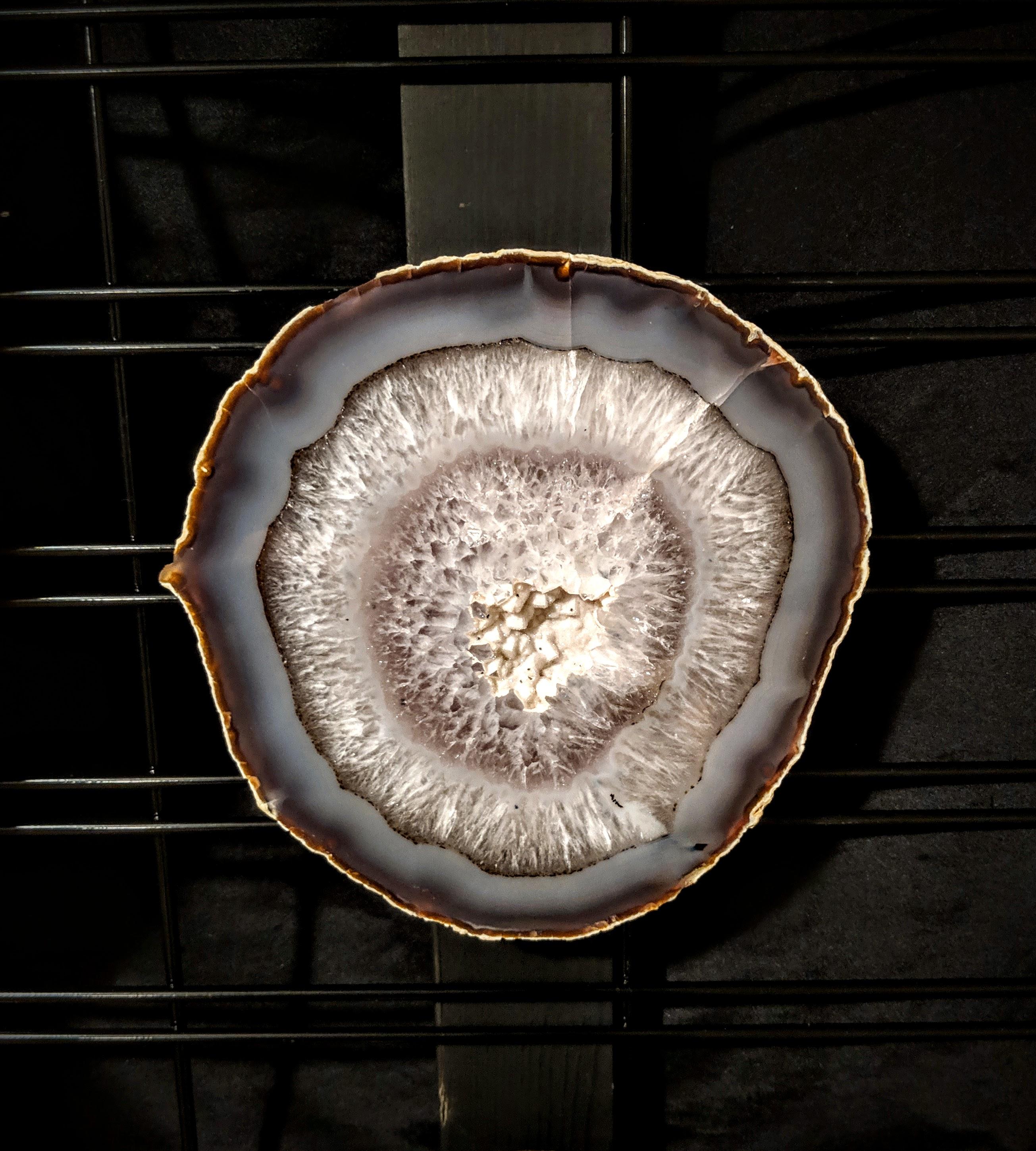 Brazilian Agate slab drusie