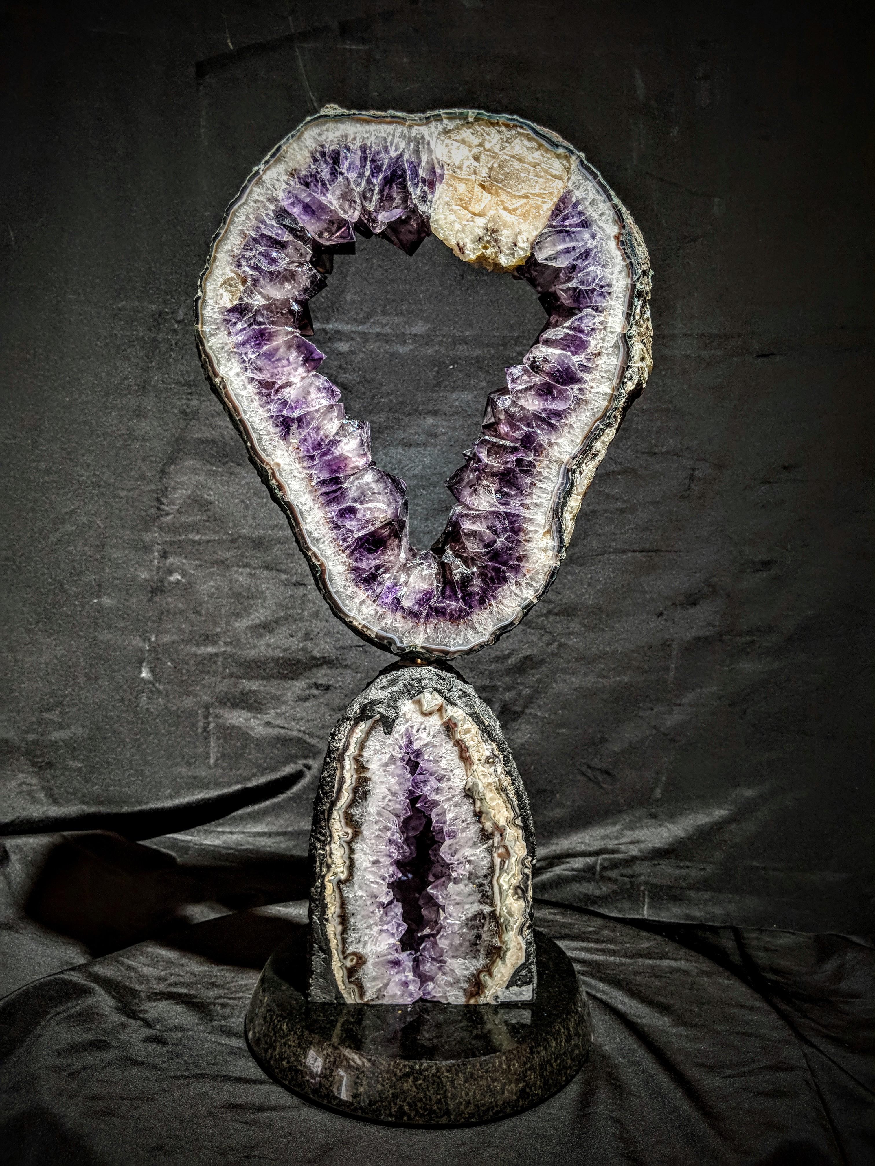 Amethyst Geode Sculpture