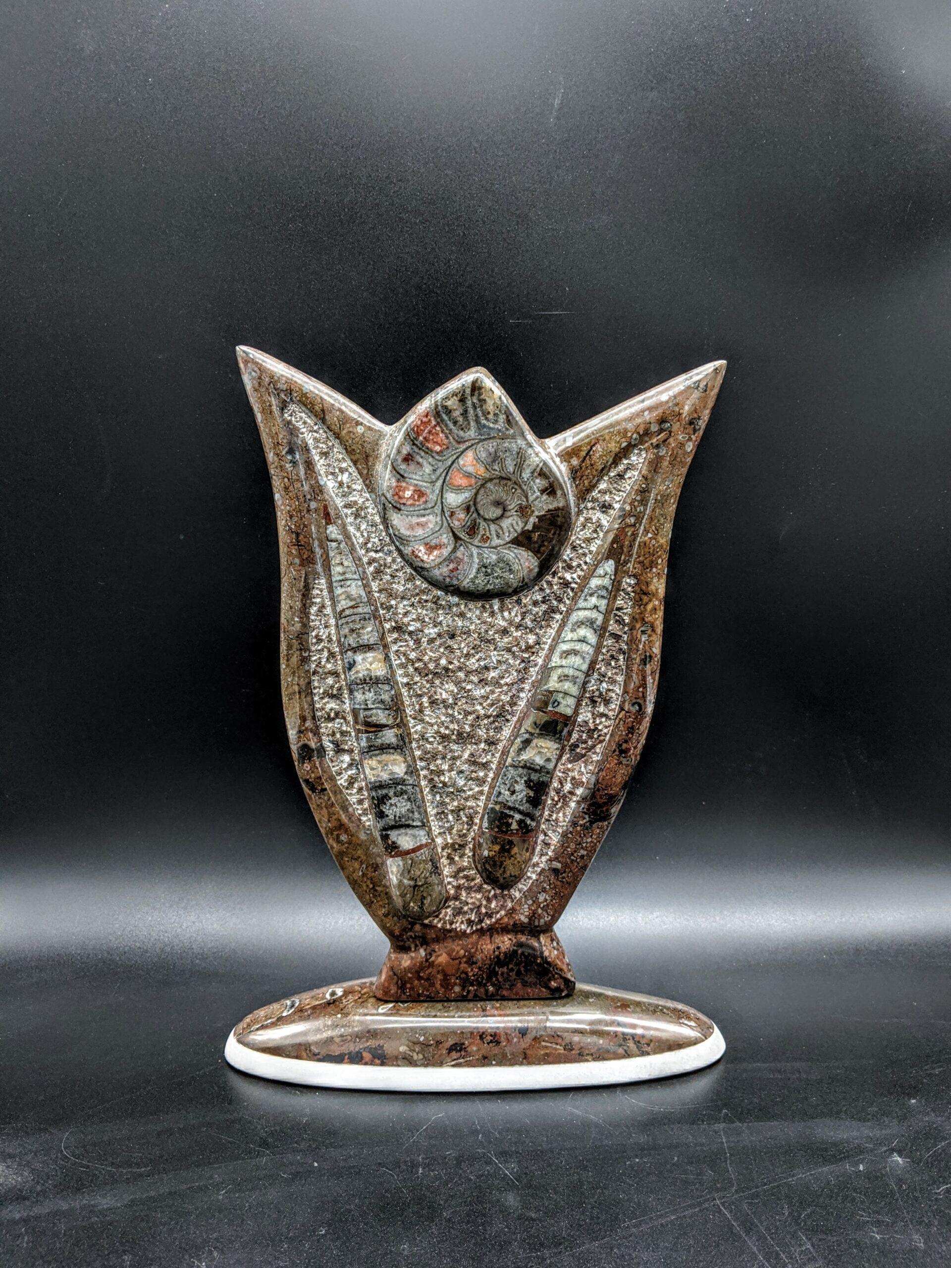 Moroccan Ammonite sculpture