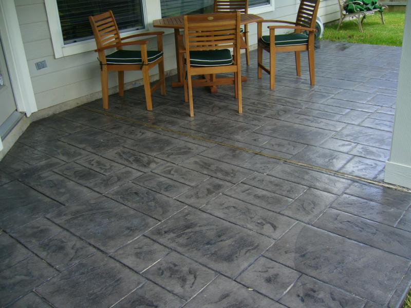 Back Patio Stamped Concrete