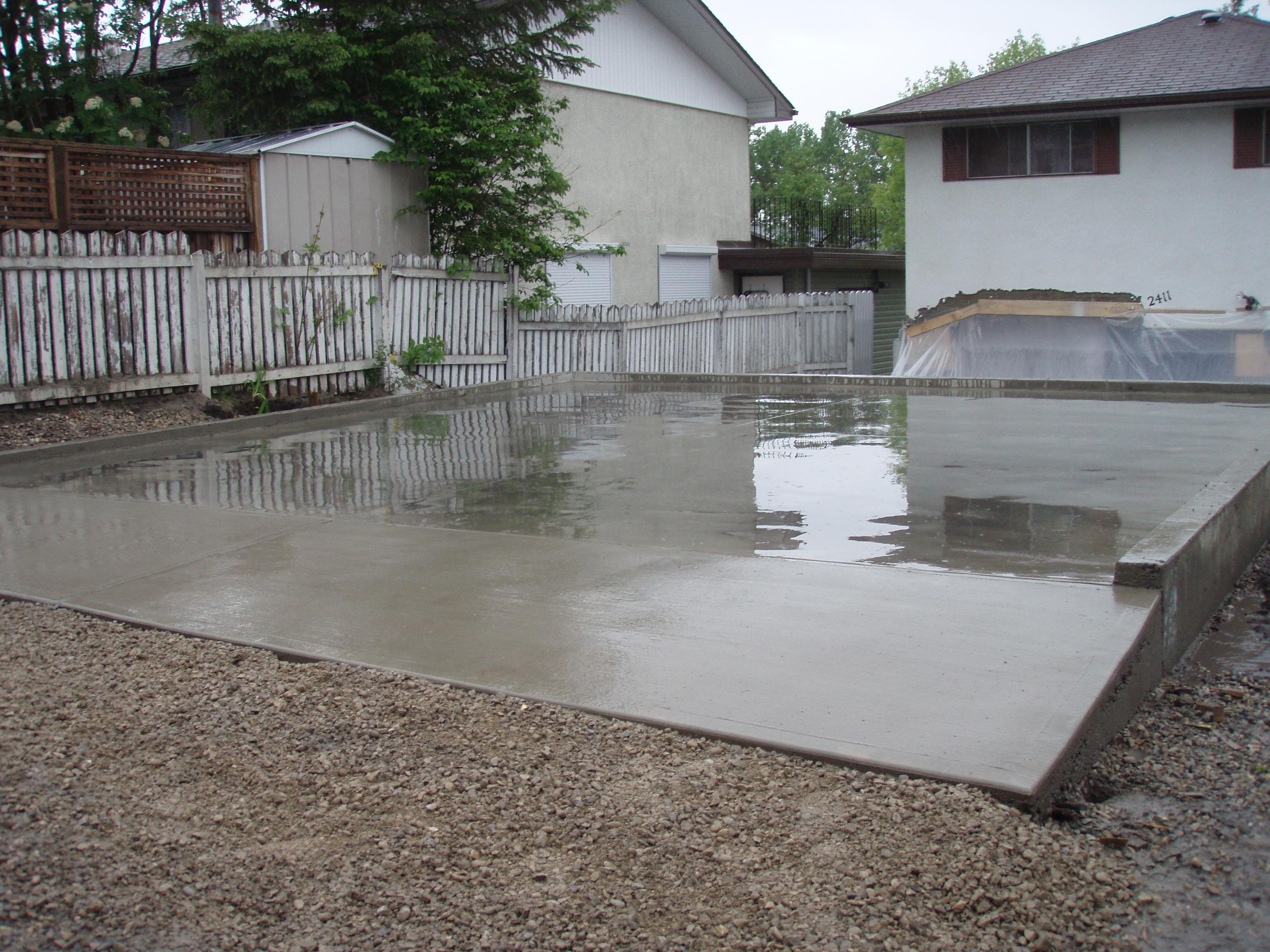 Calgary Garage Pad