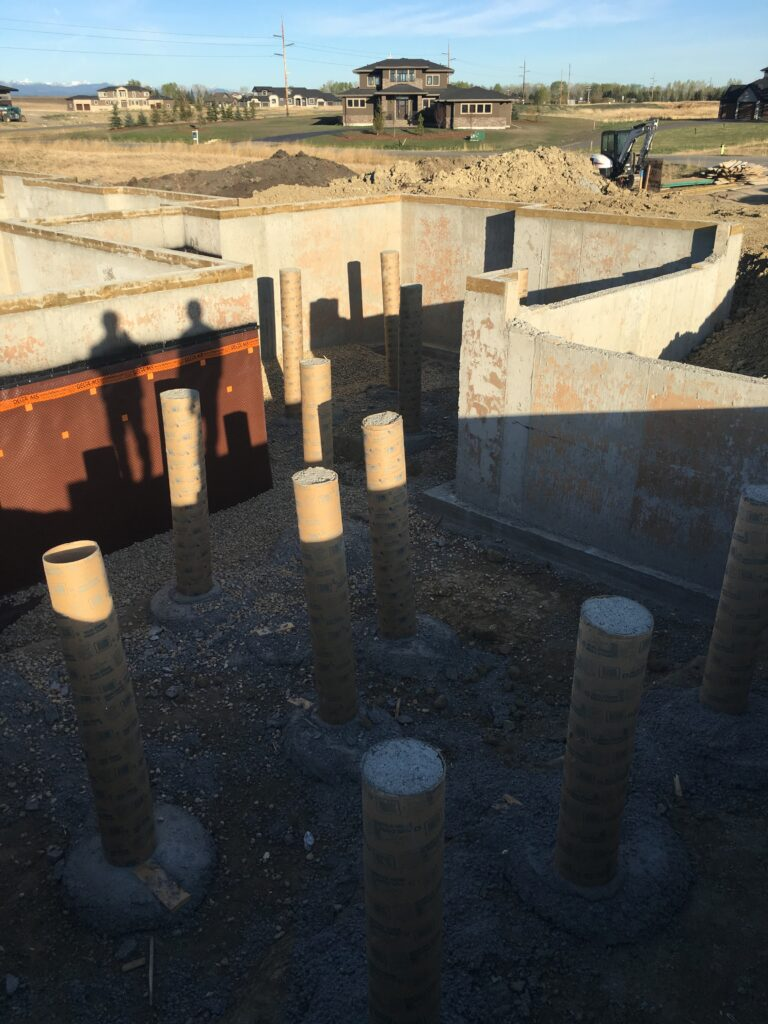 Garage Foundation with Piles