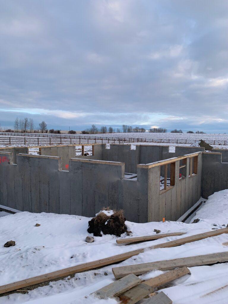 House Foundation in DeWinton, Alberta