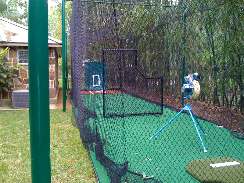 Batting Cage in the backyard