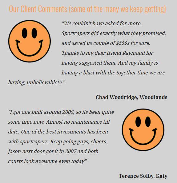 Sportcourt Happy Clients